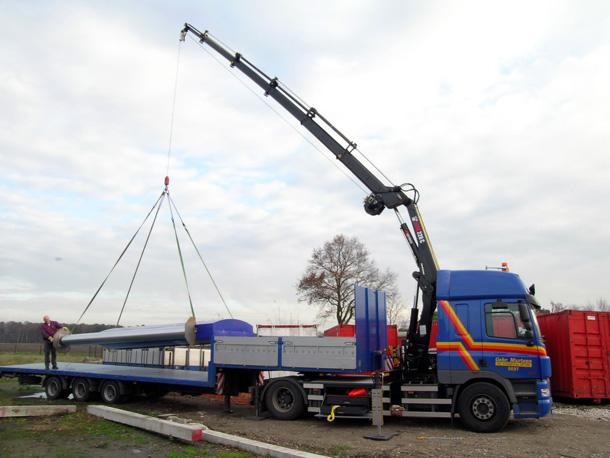 Kraan met lier 22 ton/meter
