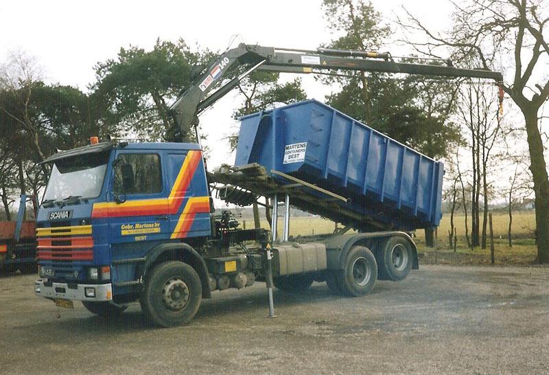 Containerwagen met kraan